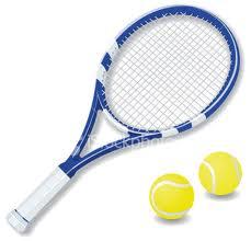raquette de tennis et balles de tennis