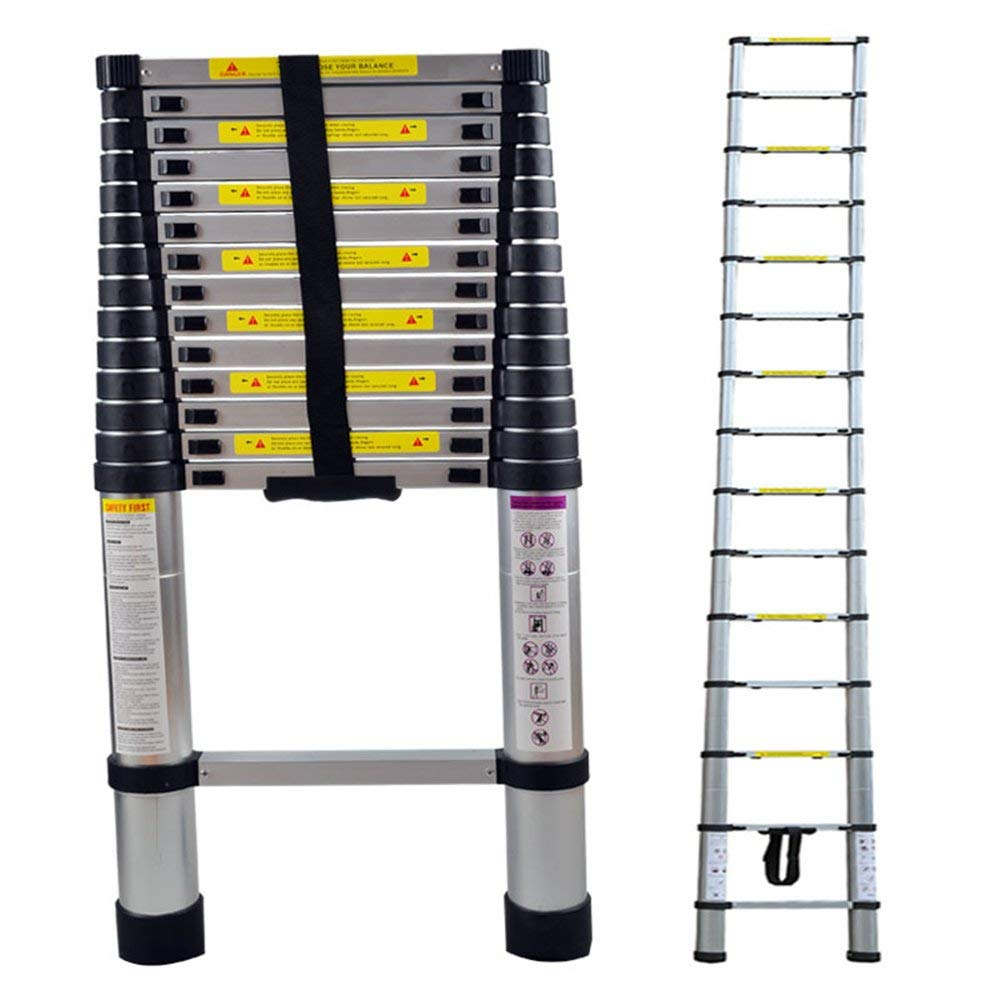 Distance Entre Les marches KingSaid /Échelle T/élescopique Pliante 2.9M Charge Maximale: 150 kg /échelle d/éploy/ée T/élescopique Multi-Fonction Echelle Pliable Extensible : 30 cm