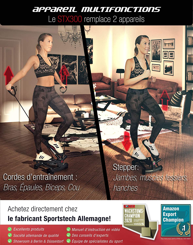 Utilisation du stepper d'appartement Sportstech Twister 2 en 1